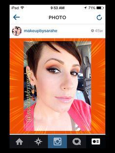 Burnt orange summer makeup.