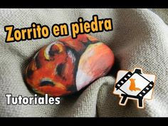 "Pintura en piedras ""Zorrito""/Stone painting ""Little fox"": Tutorial"