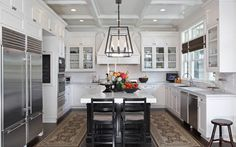 Adam Hunter is a boutique, award-winning interior design firm located in West Hollywood, California. Adam Hunter, Gate House, Hamptons House, Secret Rooms, Cool Kitchens, Country Kitchens, White Kitchens, Luxury Decor, Traditional Kitchen