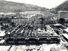 Escritório de FURNAS em Botafogo. No meio da foto a Rua Mena Barreto e do lado direito a rua Real Grandeza, ao fundo o cemitério São João Batista. A foto é provavelmente dos anos 70.