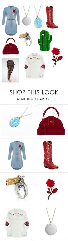 """""""Annie Oakley"""" by savannah-foster-330 ❤ liked on Polyvore featuring MANU Atelier, WearAll, Ariat, Calibro 12, Bliss and Mischief, Tom Wood and Sarina"""