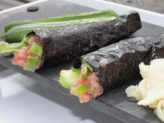 Rice-Less Spicy Tuna Hand Rolls Recipe - RecipeChart.com