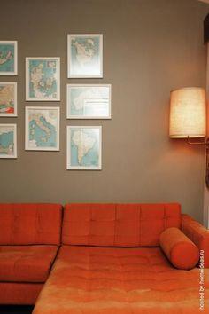 Эта квартира в одном из американских городов обставлена самостоятельно живущей в ней молодой парой.