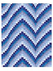 Bargell Wall Quilt Patterns - Blues Bargello Pattern