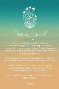 """This is a beautiful """"Personal Growth"""" affirmation that would look amazing as a canvas print in any doula business office."""