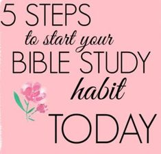 5 steps to start your bible study habit today for free Bible Study Guide, Free Bible Study, Study Guides, Study Tips, Verses About Fear, Printable Prayers, Free Printable, New Bible, Verses For Cards