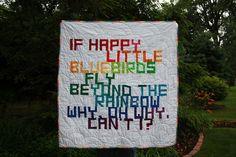 rainbow quilt - front