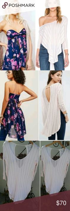 2 Free People Shirts Bundle Nwt  Ask me where to get my items for less!!!! Free People Tops