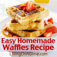 Try this easy, yummy homemade waffles recipe, with Dutch honey syrup, baked French toast, a brunch menu everyone will love and ideas to make it all easier!