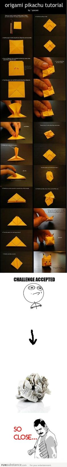 Origami pikachu tutorial