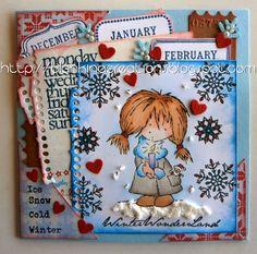 Blankina creations: Daisy in winterwonderland Marianne Design
