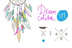 Check out Dream Catcher set by Lera Efremova on Creative Market