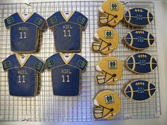 Notre Dame Football Cookies by ruthiescookies on Etsy, $48.00