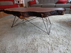 Mid Century Cats Cradle Coffee Table Base - Raw Steel- Base Only