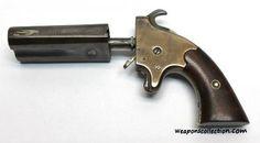 Интересный двуствольный пистолет компании Американ Армс (American Arms Double Barrel Derringer) и его разновидности