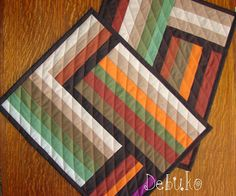 Quilts My Way: Place mats in colors of the gloomy autumn