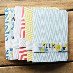 A5 Geometric/Chevron Print Eco Notebooks by MULK by MULKLOVES, £4.50