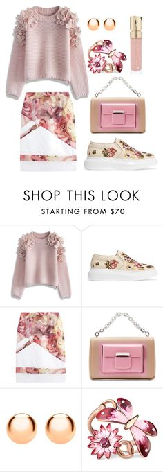 """""""Floral casual"""" by xaliax ❤ liked on Polyvore featuring Chicwish, Alexander McQueen, Preen, Balenciaga, IBB, Gucci and Smith & Cult"""