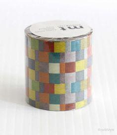 MT CASA Mosaic Bright Washi Tape 50mm $12.00