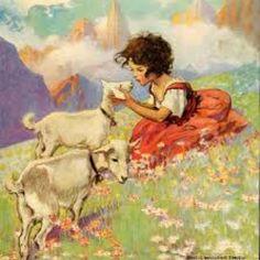 Dort in den hohen Bergen, lebt eine kleine Maid. Gut Freund mit allen Tieren, ist glücklich alle Zeit.