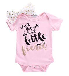 新生児幼児の赤ちゃん女の子服ピンクボディスーツ花弓ピンク文字ジャンプスーツ赤ちゃん女の子服セット