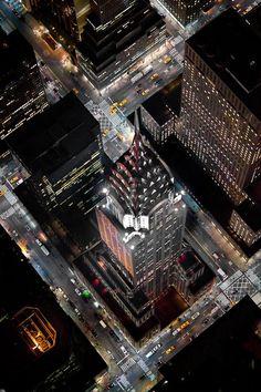 Photographies de New York la nuit : Photos aériennes d'une ville époustouflante