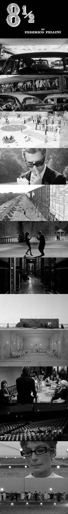 Cenas do filme 8½, de Federico Fellini. O cinema disposto em todas as suas formas. Análises desde os clássicos até as novidades que permeiam a sétima arte. Críticas de filmes e matérias especiais todos os dias. #filme #clássico #cinema #ator #atriz