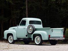 1954 Ford F-100 pickup retro    h wallpaper background