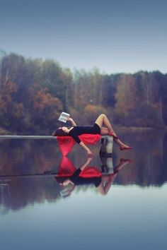 Reflections and the blurring of fantasy and reality. #books #reading