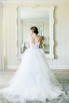 Glam gown: http://www.stylemepretty.com/little-black-book-blog/2015/03/11/classic-elegance-at-trump-winery/ | Photography: L. Hewitt - http://landmhewitt.com/