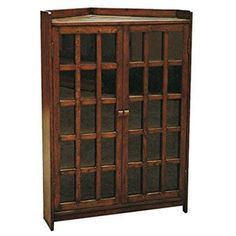 Our Mission / Arts & Crafts style furniture is made with attention to detail and expertise like that of 100 year old Stickley This is a new, never. Wood Furniture Store, Solid Wood Furniture, Antique Furniture, Mission Style Decorating, Oak Bookshelves, Corner Curio, Bookcase With Glass Doors, Door Displays, Cabinet Dimensions