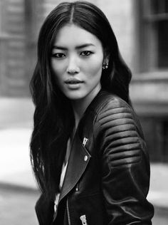 Chinese fashion model, Liu Wen I think I NEED this jacket!