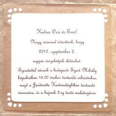 Rustic vintage wedding invitation