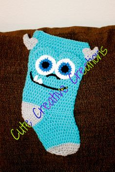 The Original Crochet Monsters Inc. Sulley Stocking