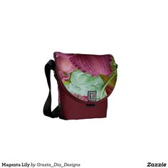 Magenta Lily Messenger Bags