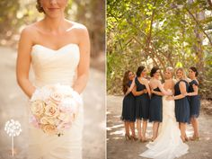 Melissa + Andy :: Private Estate Wedding :: Bridesmaid :: Bridal Party ::Sea Grapes ::  Bouquet