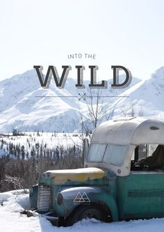 betype:  Into the wild cover design  Get inspired on Betype.co
