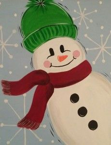 We bring the party to you and Kansas City painting parties that are fun, affordable and happen on your time, wherever you want! We provide all the supplies! - Friendly Frosty painting by Apple Pie Painting Painting Parties, City Painting, Pta, Paint Party, Apple Pie, Yoshi, Kansas City, Shit Happens, Apple Cobbler