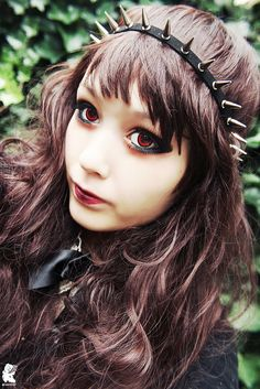 Dark Brown Eyes, Gray Eyes, Dark Red, Marshall Lee Cosplay, Circle Lenses, Colored Contacts, Piece Of Cakes, Kimchi, Makeup