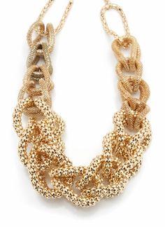 I love gold jewelry
