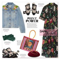 """""""Print Power"""" by anne-irene ❤ liked on Polyvore featuring ADAM, Gucci, Victoria Grant and Mark & Graham"""