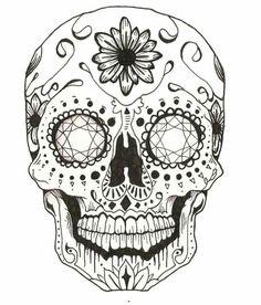 black and white sugar skull girl tattoo Sugar Skull Mädchen, Sugar Skull Girl Tattoo, Sugar Skull Drawings, Skull Coloring Pages, Mandala Coloring Pages, Coloring Books, Dibujos Sugar Skull, Tattoo Crane, Neotraditional Tattoo