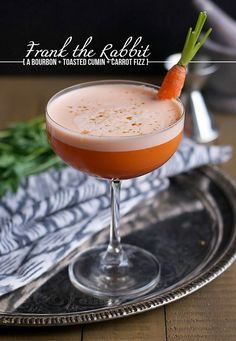 Frank the Rabbit Cocktail Recipe : Bourbon, Toasted Cumin, Carrot, Amaro, Orange Bitters