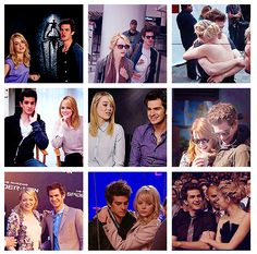 Gwen Stacy and Peter Parker Emma Stone Andrew Garfield, Gwen Stacy, Marry You, Geek Out, Love Couple, Famous People, Spiderman, Beautiful People, Geek Stuff