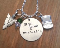 Arrow-Olicity hand stamped necklace-Oliver by FangirlProblemsInc