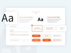 AmberWrite style guide by Serge Soskowiec #Design Popular #Dribbble #shots