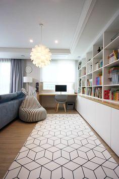 Apartment Interior Design, Home Office Design, Interior Design Living Room, Living Room Designs, Living Room With Fireplace, Living Room Decor, Study Room Design, Minimalist Living, Home Decor
