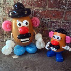 "Mr. Potato Heads balloon animals - from Pixar's ""Toy Story"""