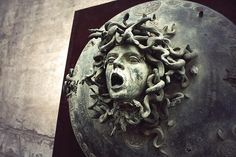 A wider image of the Medusa shield in the Boboli Gardens by Ivan Theimer.  Used this for my biz cards.