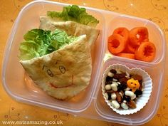 Eats Amazing - Funny Face Pitta Lunch